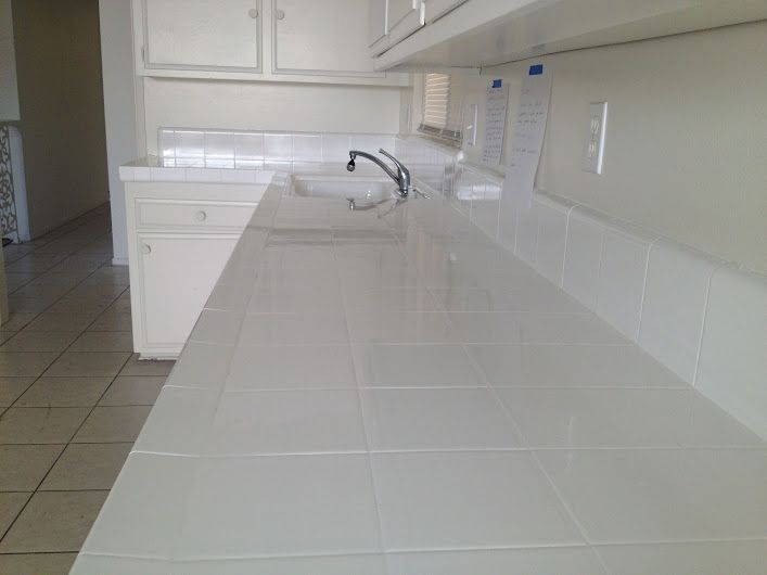 PKB Reglazing : Tile Kitchen Countertop Reglazed White (3 ...