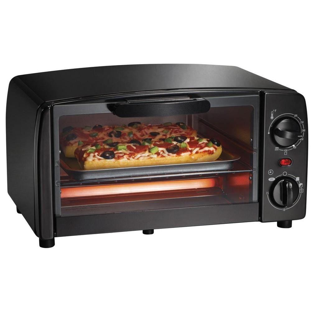Electric Toaster Oven Broiler Countertop Bake Portable Dorm Room