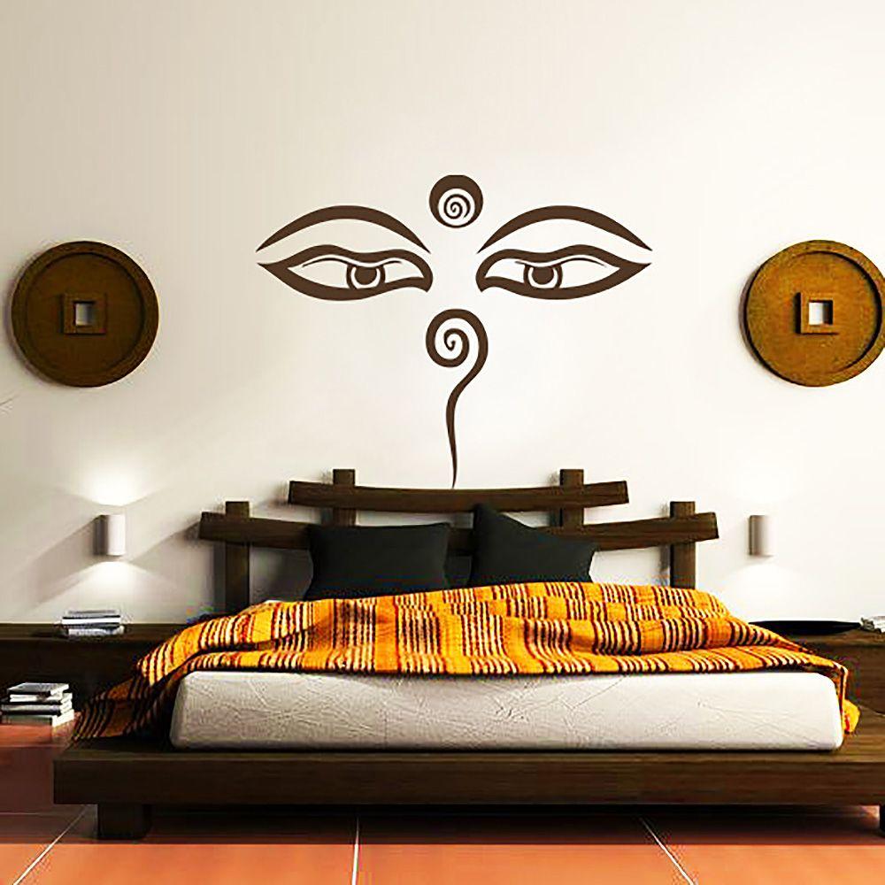 Buddha Augen Wandtattoo #yoga #yogaeverydamnday #yogalove #yogachallenge  #yogalife #yogagirl #