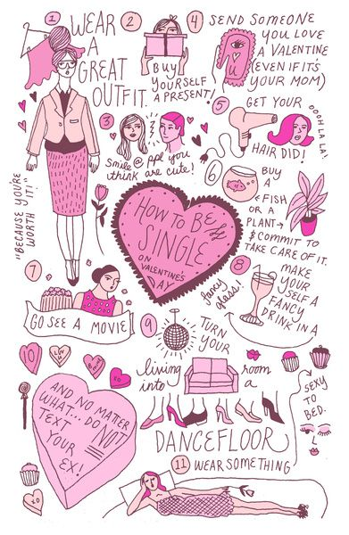 How to be single on valentines day art print by kathryn mcfarlane how to be single on valentines day art print by kathryn mcfarlane society6 ccuart Images