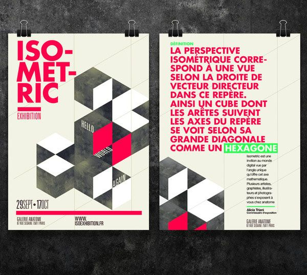 Isometric Exhibition Posters By Thomas Ciszewski  Layout  Flyers