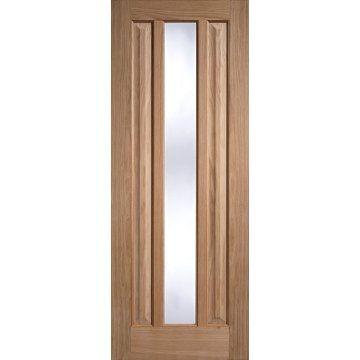 Kilburn 1 Pane Oak Door Clear Glass Safety Glass Light Oak Oak Doors