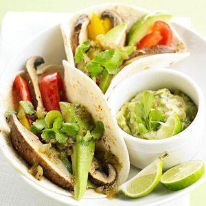 Portobello Fajitas - veganize with a vegan mayo