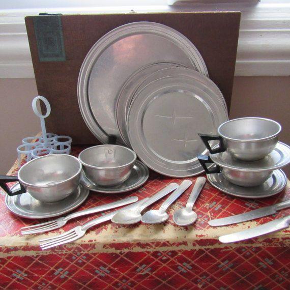 Childs Play Dish Set Aluminum Dishes