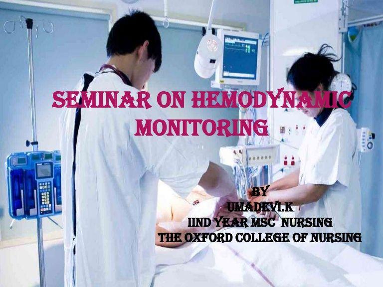 Hemodynamic Monitoring Ppt Nurse Life Telemetry Nursing Nursing Study