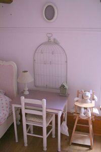 birdcage silhoutte on wall - cute
