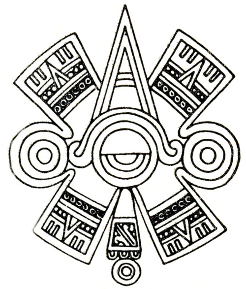 Ollin Aztec Glyph Symbol Of Centered Eye Or Third Eye Tattoos