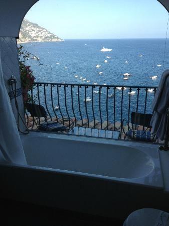 Bathtub With A View Of The Amalfi Coast At The Hotel Miramar