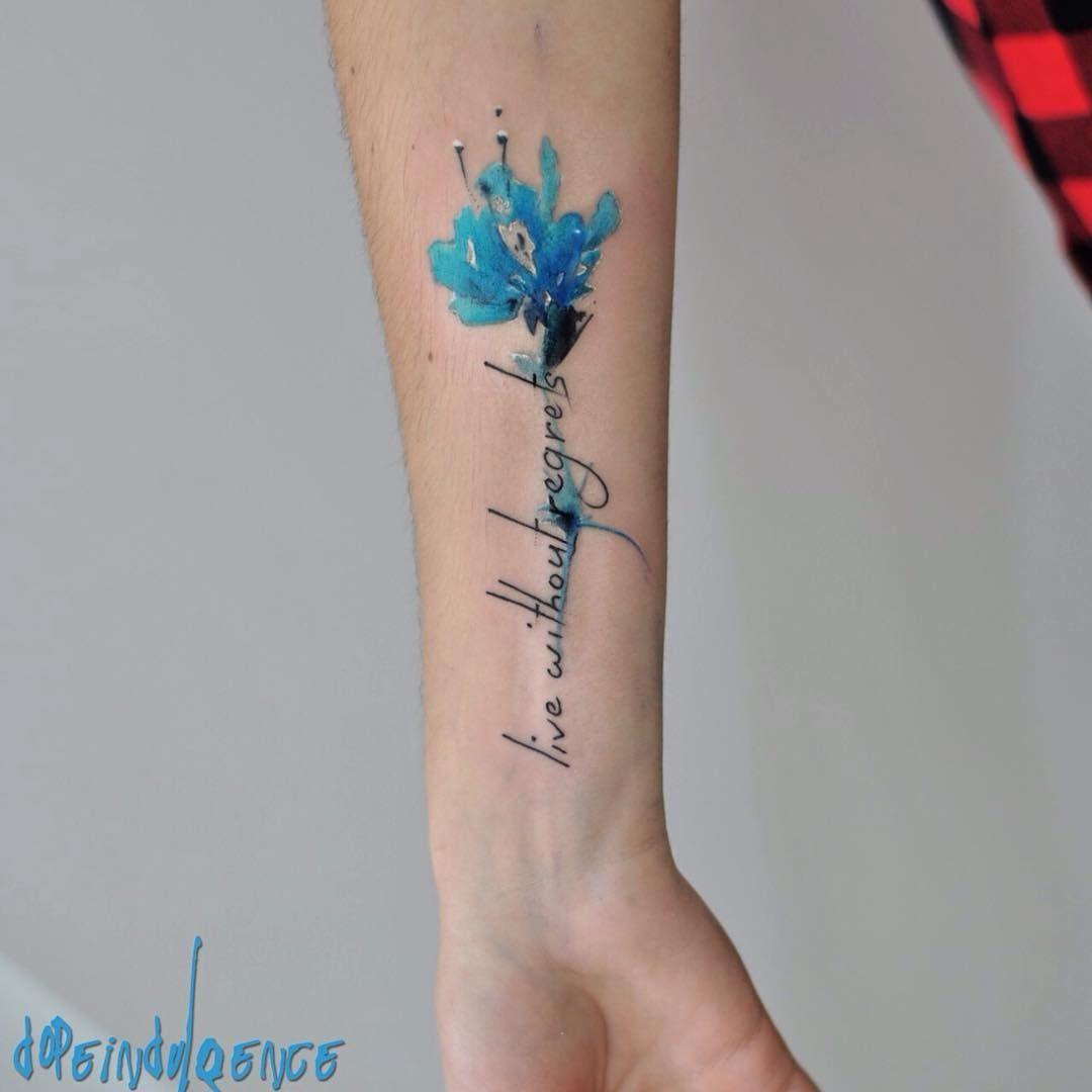 @dopeindulgence-tatuaje Flor Azul