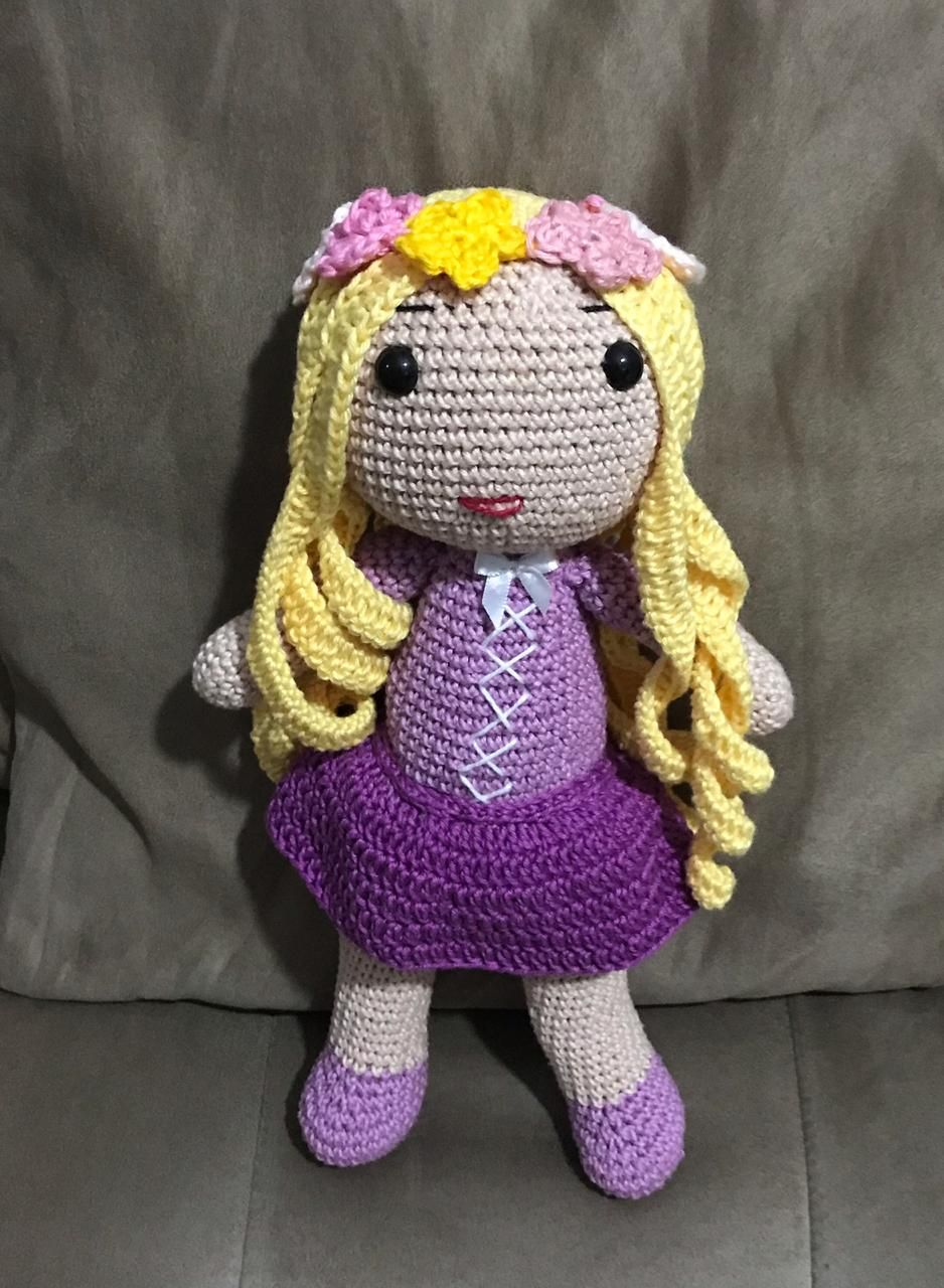Rapunzel Doll - Amigurumi Crochet Pattern PDF in English | Bonecas ... | 1280x938