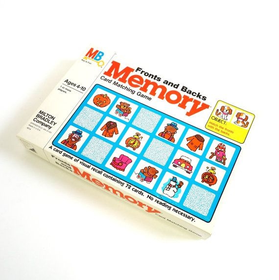 Milton Bradley Fronts and Backs Memory Game by AttysSproutVintage, $22.00
