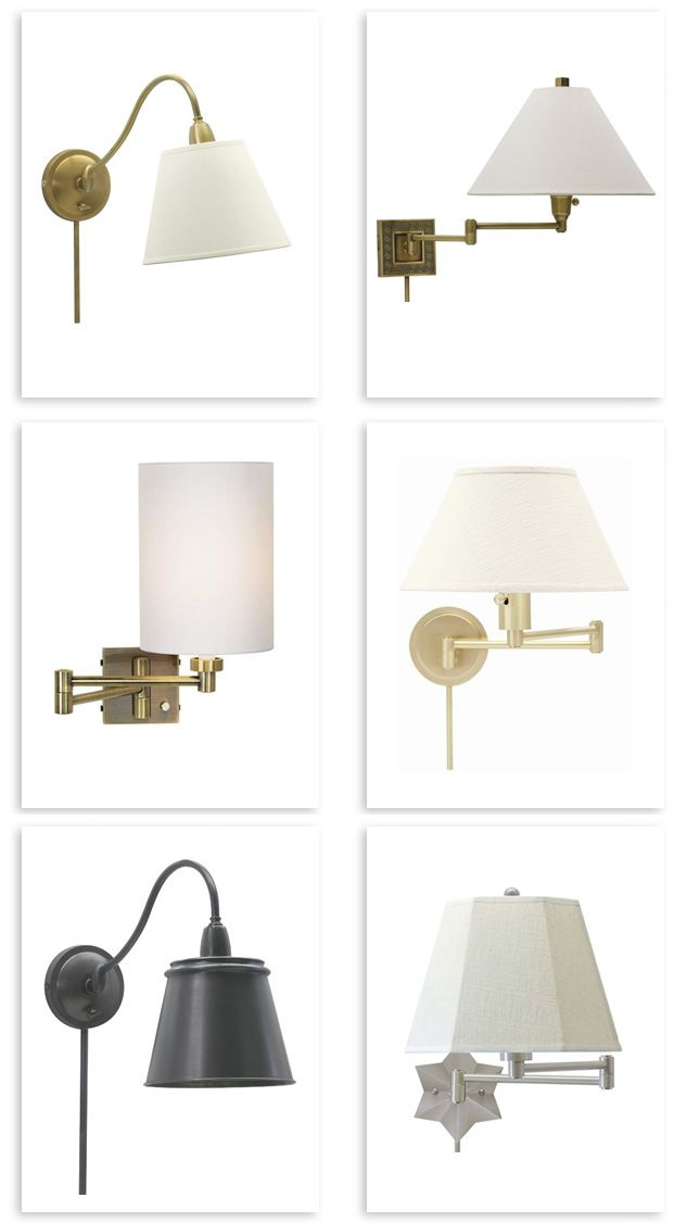 round up of our favorite plug in swing arm wall lights, good bones ...