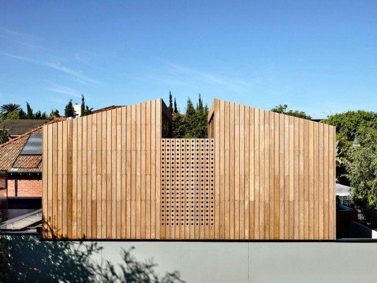 Tageslicht Spot Licht Dach Moderne Architektur Holz Fassade Verkleidung 750x564