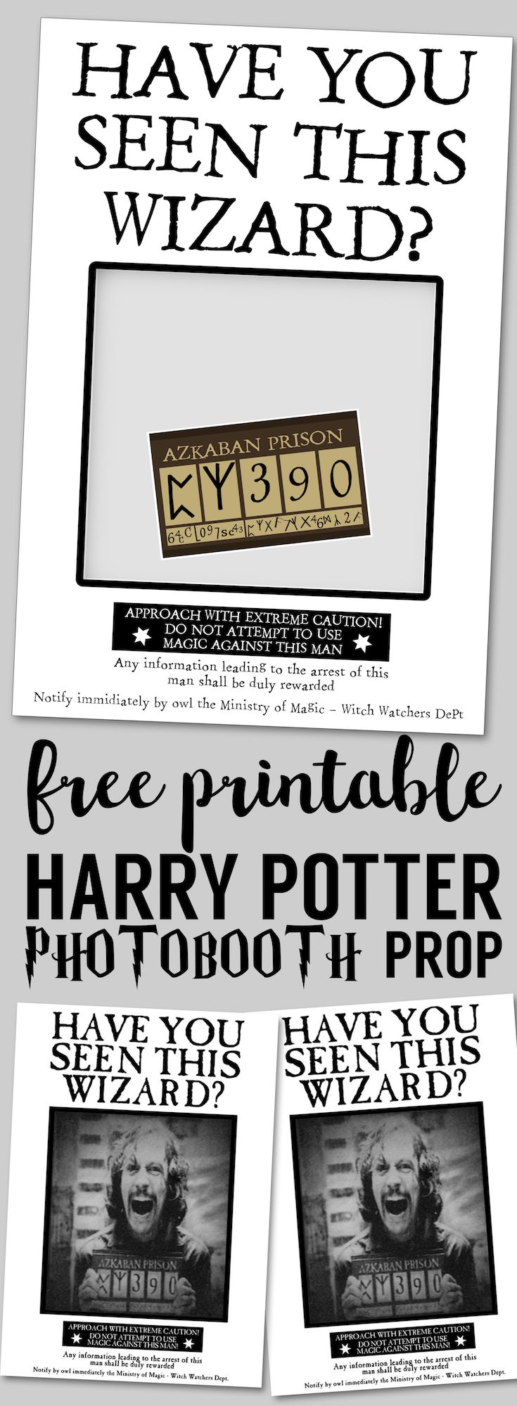 Harry Potter Party Photobooth Easy DIY Harry potter free