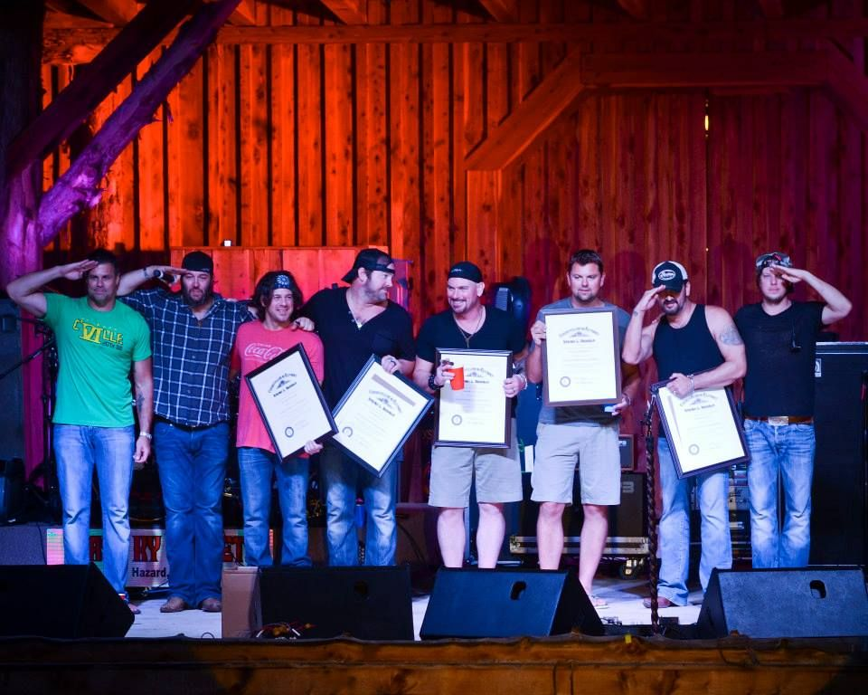 Christian Kane and other's getting their KY COLONEL certificates!! Sept 7 2013 debbie wallace photo.. keep credit when repinning please!
