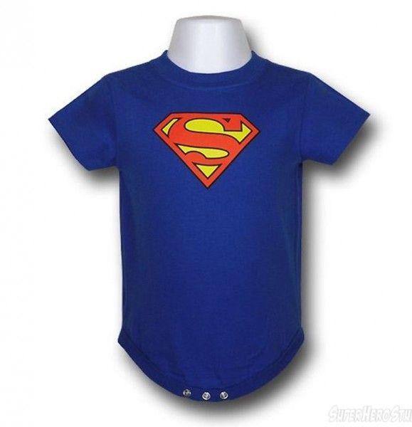 Infant Superman Logo Bodysuit   Superman symbol, Superman