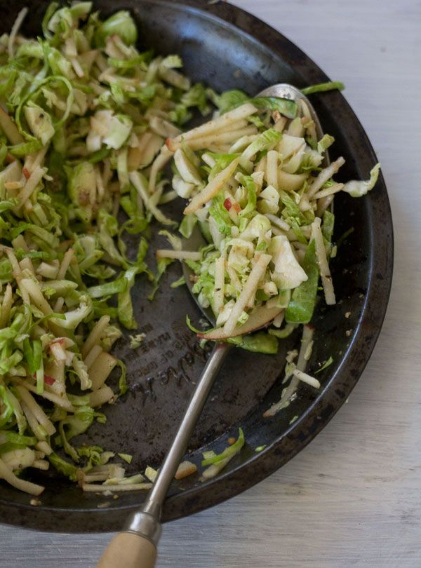 Apple and Brussels Sprout Cole Slaw Recipe Food, Food