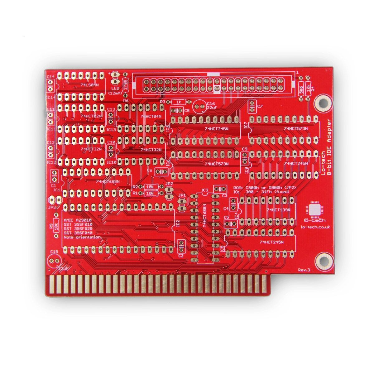 Lo-tech 8-bit IDE Adapter (PCB Only | Lo-tech Products | 8