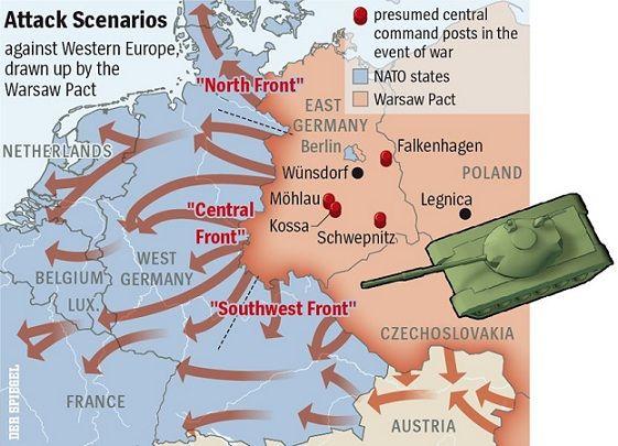 Soviet attack scenarios against Western Europe   Fulda Gap ...