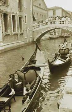 Taking a break in Venice, Italy