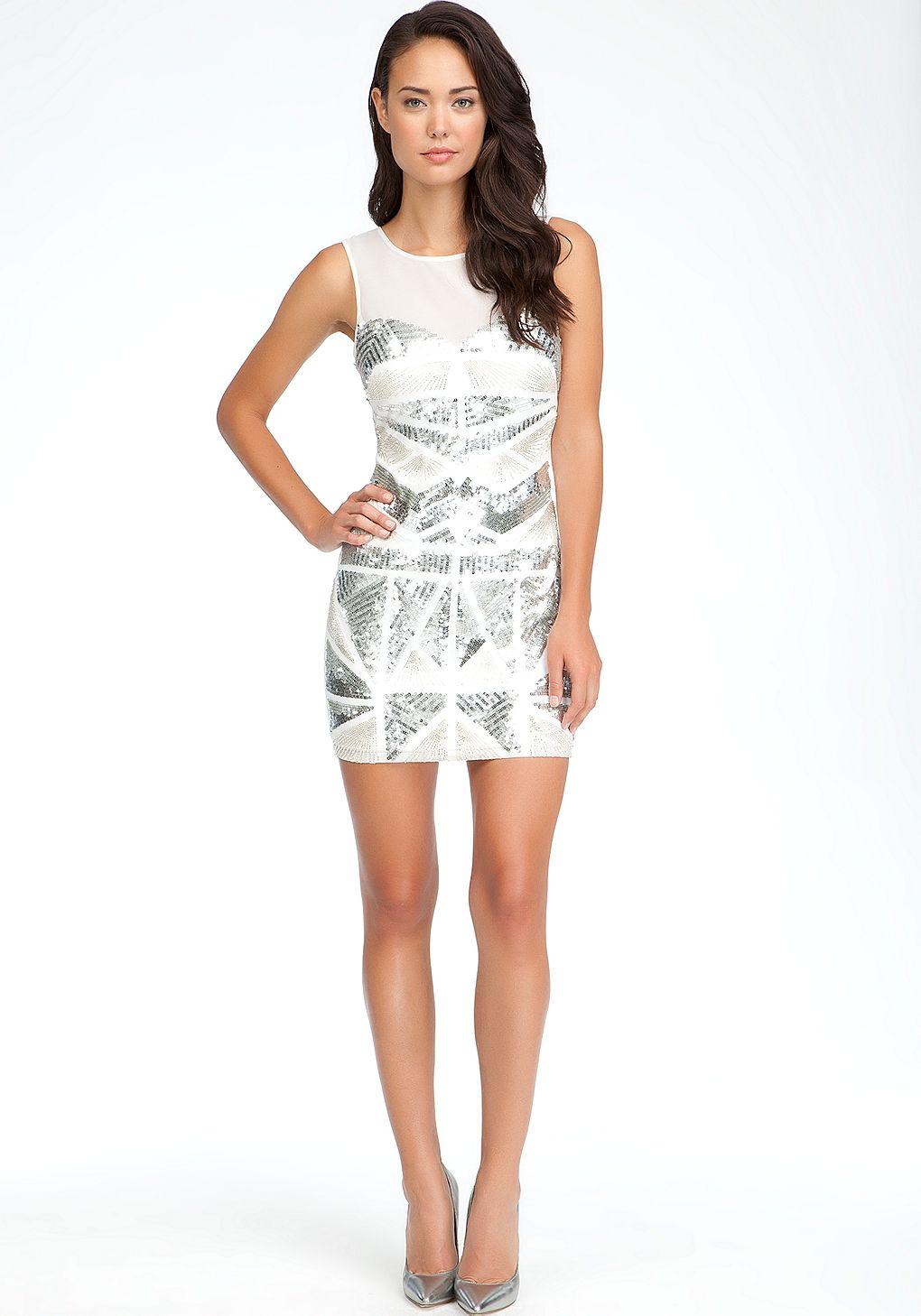 Bebe metallic beaded dress online exclusive view all dresses