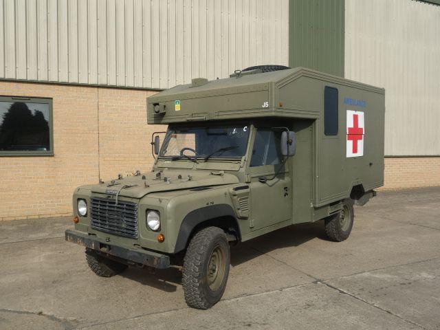 land rover 130 defender wolf rhd ambulance used military vehicles mod surplus for sale a. Black Bedroom Furniture Sets. Home Design Ideas