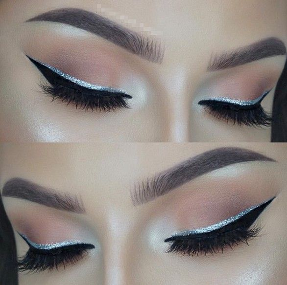 43 Best Lovely Silver Glitter Eye Makeup Idea For Prom And Wedding - Page 28 of 43 #glittereyemakeup