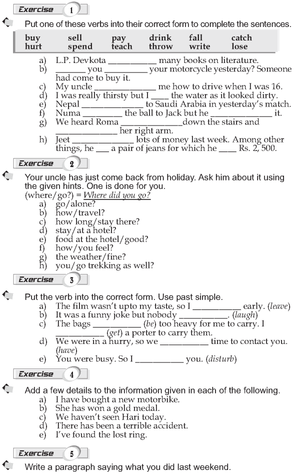 Grade 9 Grammar Lesson 6 Past simple (2) | Grammar lessons ...