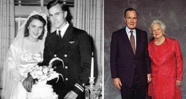 George H W And Barbara Bush