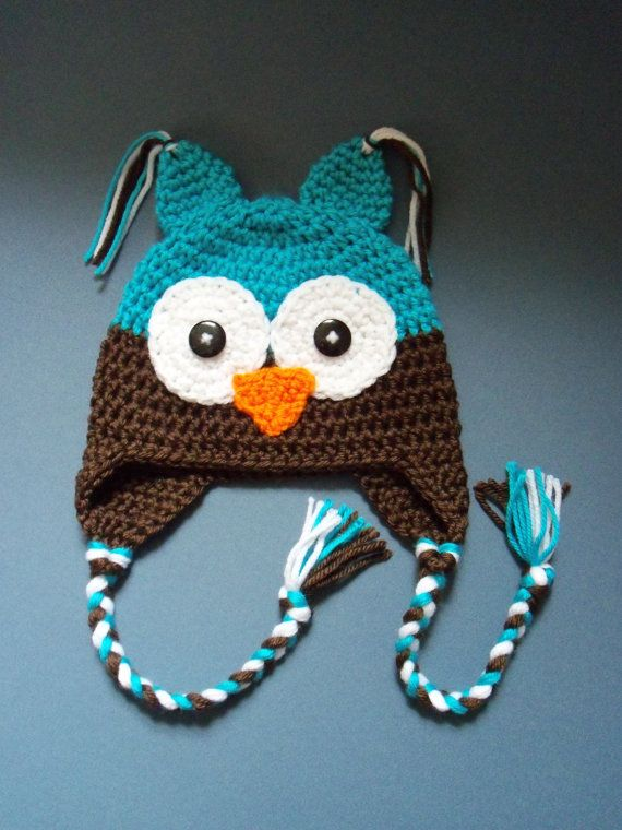 Crochet Owl Hat Baby Boy Owl Hat Toddler Hat Made To Order On Etsy