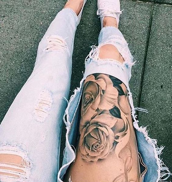 Disenos De Tatuajes Fotodetatuajess Twitter Tatuajes Muslo