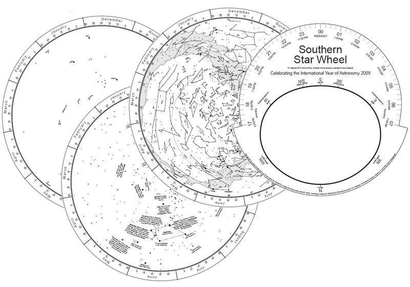 image regarding Planisphere Printable referred to as Southern Star Wheel - cost-free printable planisphere (star chart