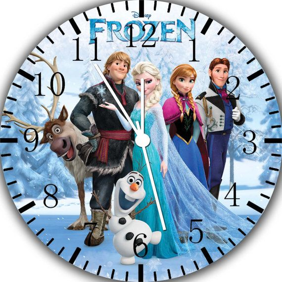 New Disney Frozen wall Clock 10 will be nice Gift by Melissaclocks