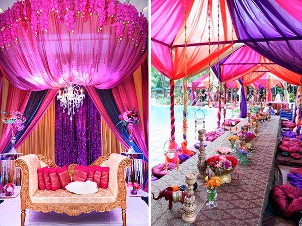 Decoraci n hind 2 fiesta hindu pinterest party moroccan party y wedding decorations - Decoracion indu ...
