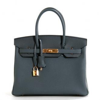 9de5044a49 Authentic Hermes Bleu Orage Togo 30 Cm Birkin
