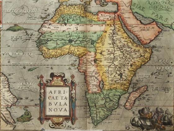 I want this for my house!! A Old Africa Map!