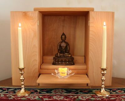 Meditation Altar Altar Cabinet Butsudan Meditation Altar Sacred Space Pinterest