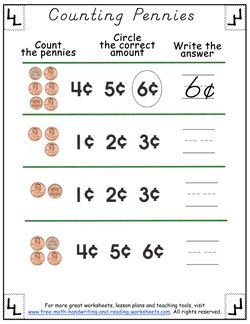 counting pennies worksheets 03 math activities counting money worksheets money worksheets. Black Bedroom Furniture Sets. Home Design Ideas