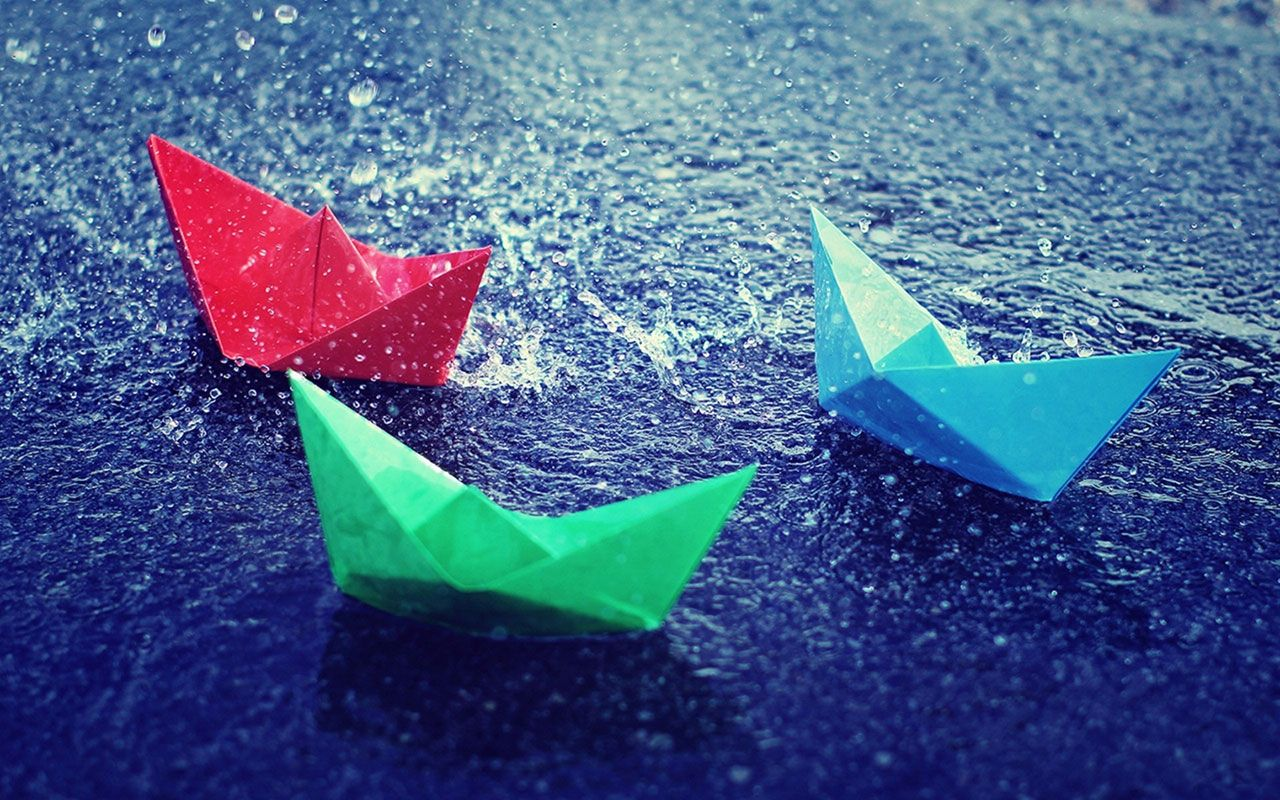 Cover Page Rain Wallpapers Paper Boat Rain Pictures