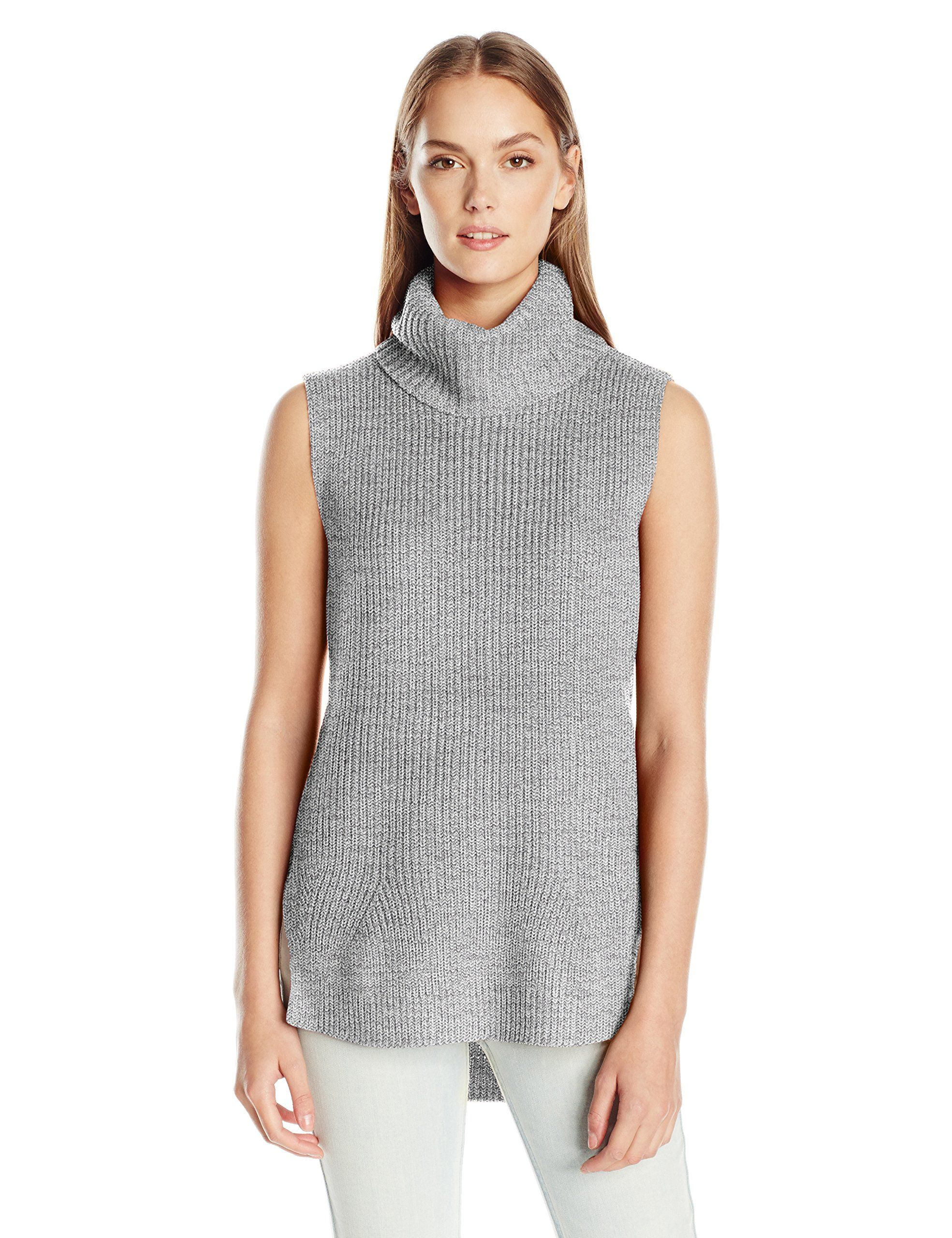 65b3936e257 Calvin Klein Jeans Womens High Low Turtleneck Tunic Sweater Alloy XLarge --  Want to know more, click on the image.-It is an affiliate link to Amazon.