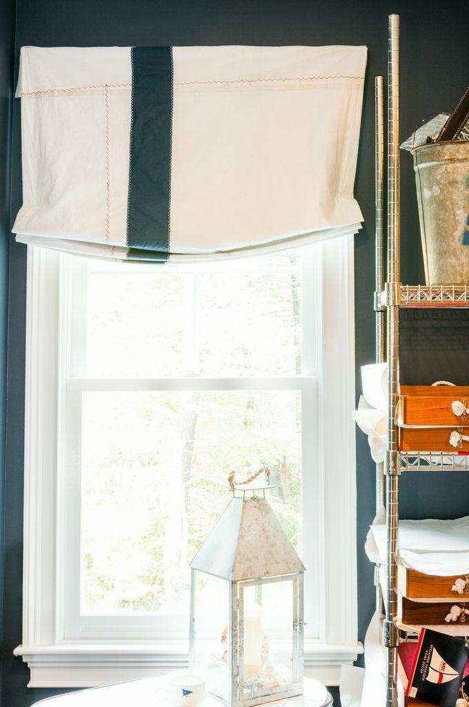 Custom Sailcloth Roman Shades In Our Office! Www.mkcoastal.com #shades #