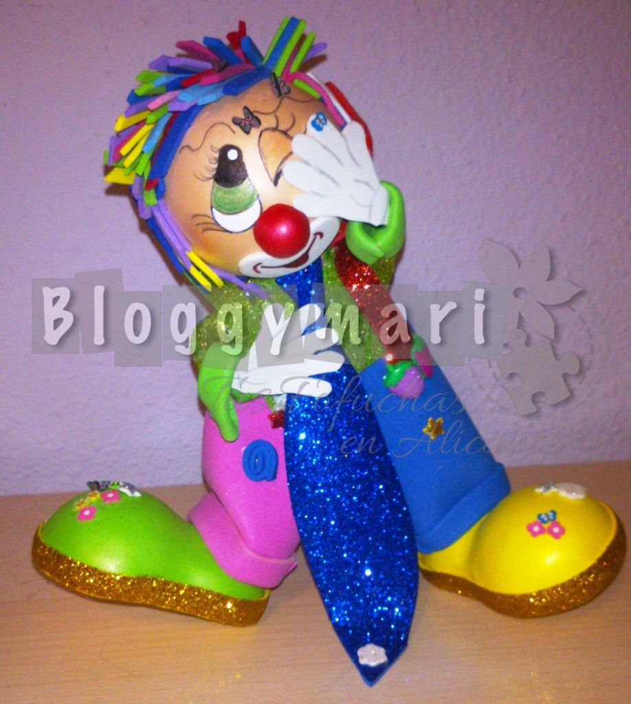 Payaso To In Atacado Por Mariposas De Fimo Fofuchos Payasos  # Muebles Payasito Toluca
