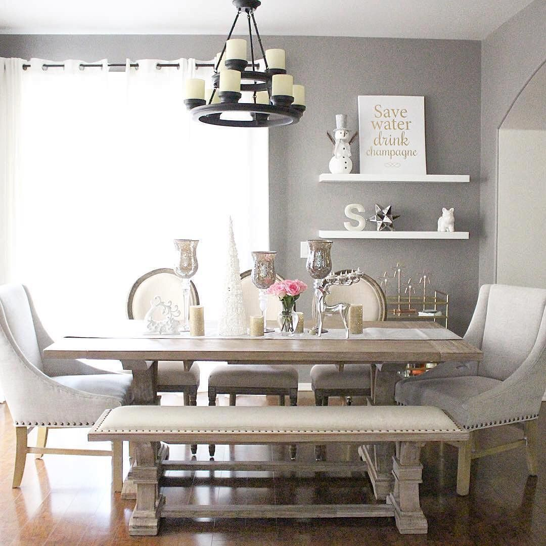 "dining room bench table | ""#ZGallerieMoment: @monicsutter showcases our exclusive ..."