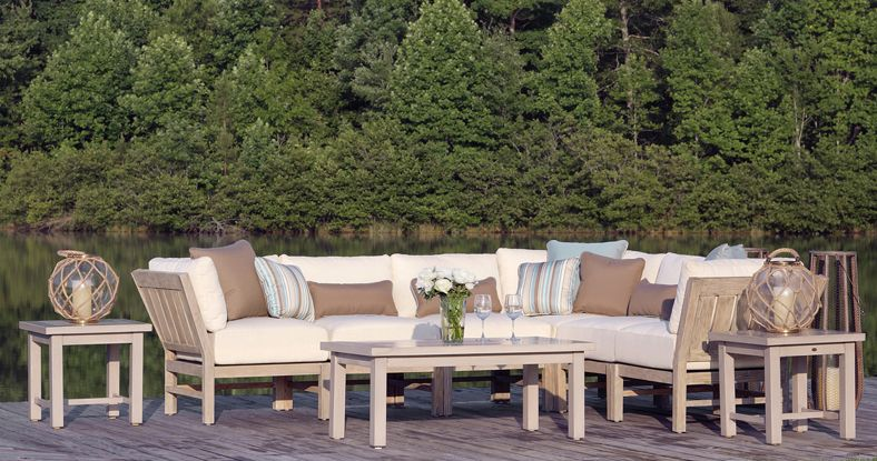New For 2014 Is The Club Teak Outdoor Sectional Sofa By Summer Classics Summer Classics Furniture