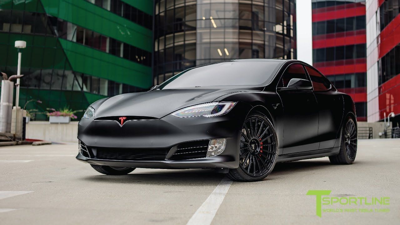 Satin Matte Black Wrapped Tesla Model S P100d Fully Customized Tesla Model S Tesla Model S Black Tesla Model