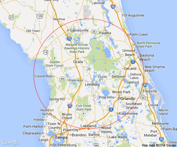 Villages Florida Map.The Villages Florida Day Trips And One Tank Trips 100 Miles Or Less