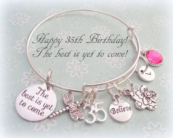 35th Birthday Gift For Best Friend By HopeisHipJewelry