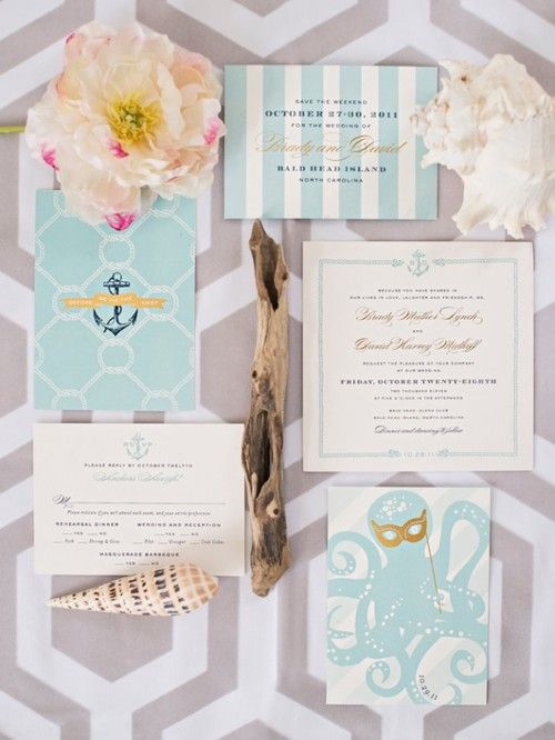 Invitation, Nautical, Seafoam, Teal, Anchor