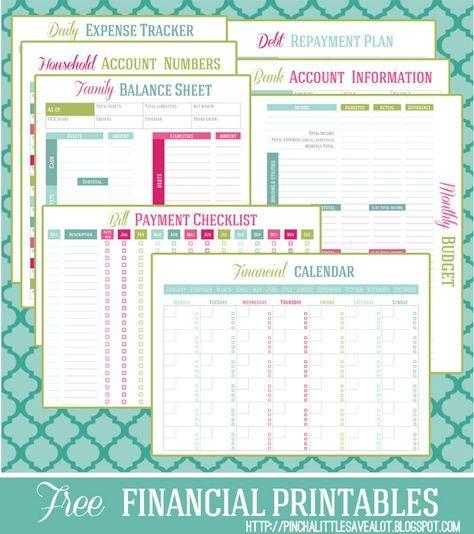FREE Financial Printable Planner Money management, Debt repayment