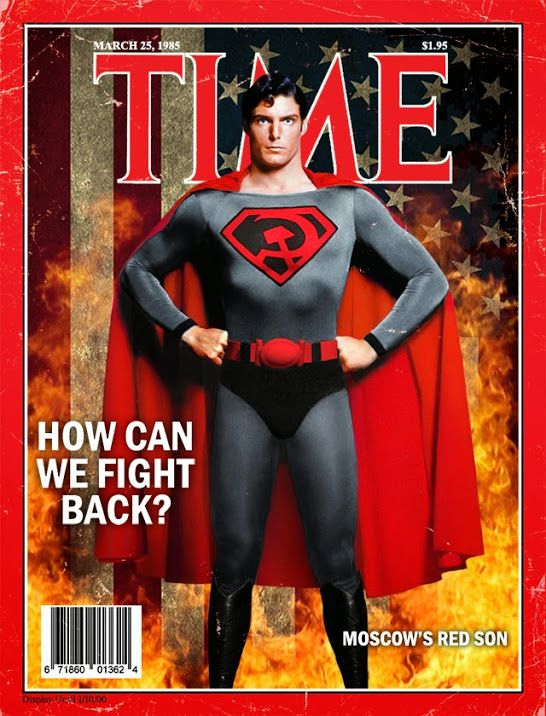 Red Son Christopher Reeves Superman Covers By Philip Postma Superman Movies Superman Superhero